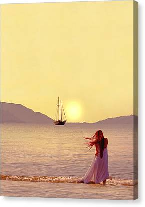 Marmaris - Turkey Canvas Print by Cambion Art