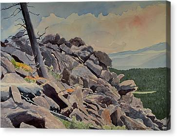 Marmot Hill Canvas Print by Thomas Stratton
