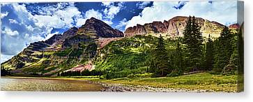 Maroon Bells And Crater Lake Canvas Print by Ken Smith