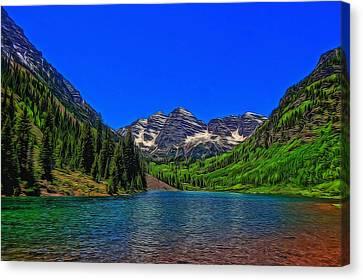 Maroon Bells Colorado In Summer Canvas Print by Dan Sproul