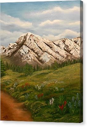 Maroon Trail Splendor Canvas Print by Sheri Keith