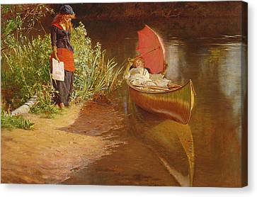 Marooned Canvas Print by Edward John Gregory