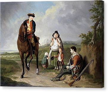 Marquess Of Granby Relieving A Sick Canvas Print by Edward Penny