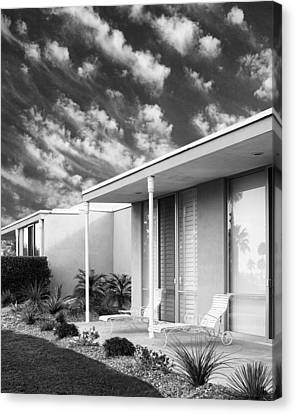 Marrakesh Lounge Bw Palm Springs Canvas Print by William Dey