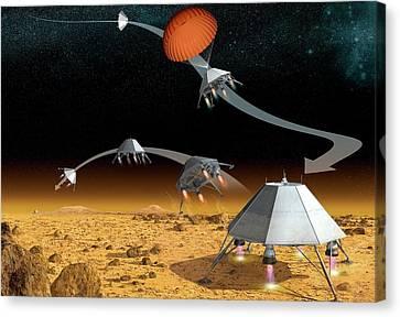 Mars Hopper Spacecraft Canvas Print by Claus Lunau