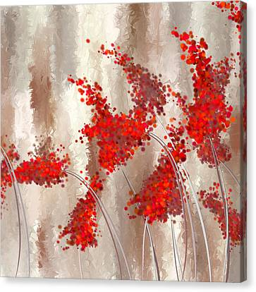 Marsala Abstract Canvas Print by Lourry Legarde