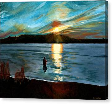 Marsh Creek October Sunset Canvas Print by Phillip Compton