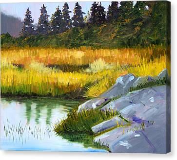 Marsh Canvas Print by Nancy Merkle