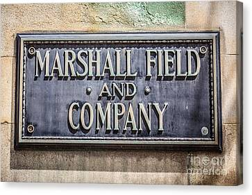 Marshall Field And Company Sign In Chicago Canvas Print by Paul Velgos