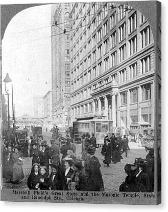 Marshall Fields Great Store Canvas Print by Everett