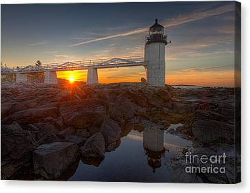 Marshall Point Light At Sunrise I Canvas Print by Clarence Holmes