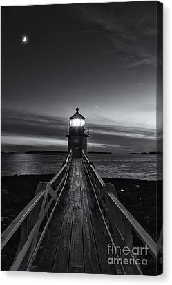 Marshall Point Lighthouse At Twilight II Canvas Print by Clarence Holmes