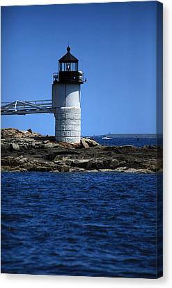Marshall Point Surrounded By Blue Canvas Print by Karol Livote