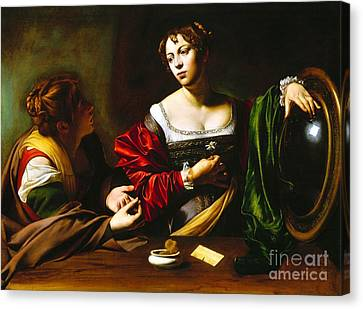 Martha And Mary Magdalene Canvas Print by Pg Reproductions