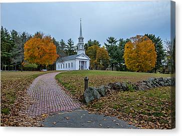 Martha-mary Chapel Sudbury Ma Canvas Print by Wayne Collamore