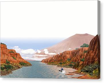 Martian Settlement, Artwork Canvas Print by Science Photo Library
