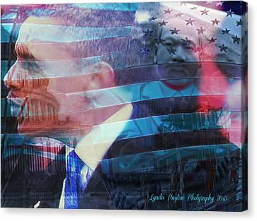 Martin And Obama Canvas Print by Lynda Payton