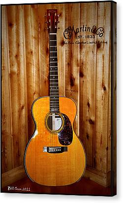 Martin Guitar - The Eric Clapton Limited Edition Canvas Print by Bill Cannon