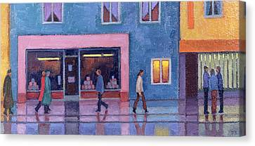 Martins Of Chard & Passers By, 2004 Canvas Print by Valerie Barden