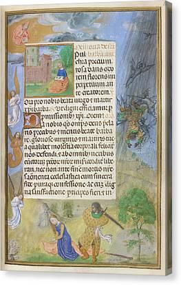 Martyrdom Of St Barbara Canvas Print by British Library