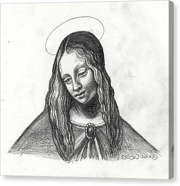 Mary After Davinci Canvas Print by Genevieve Esson