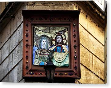Mary And Joseph Canvas Print by John Rizzuto