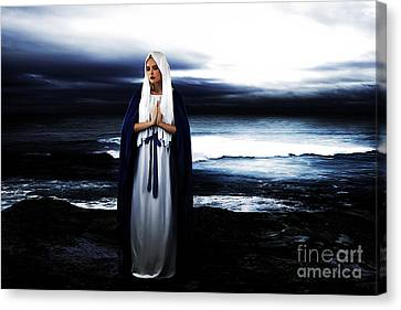 Mary By The Sea Canvas Print by Cinema Photography