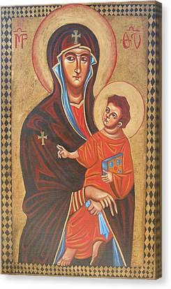 Mary Help Of The Romans Canvas Print by Joseph Malham