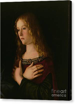 Mary Magdalene Canvas Print by Giovanni Bellini