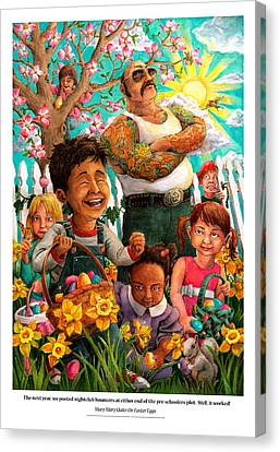 Mary Mary Quite On Easter Eggs Canvas Print by David Condry