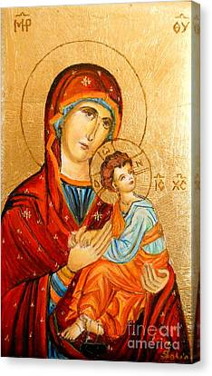 Mary With Jessus R.2 Canvas Print by Sorin Apostolescu