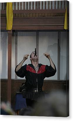 Maryland Renaissance Festival - Johnny Fox Sword Swallower - 1212111 Canvas Print by DC Photographer