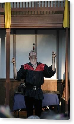 Maryland Renaissance Festival - Johnny Fox Sword Swallower - 1212117 Canvas Print by DC Photographer