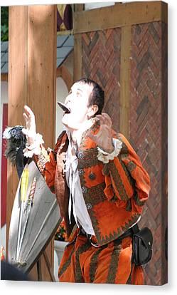 Maryland Renaissance Festival - Johnny Fox Sword Swallower - 121221 Canvas Print by DC Photographer