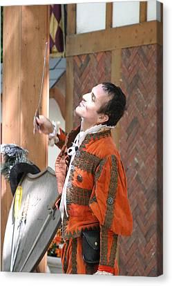 Maryland Renaissance Festival - Johnny Fox Sword Swallower - 121224 Canvas Print by DC Photographer