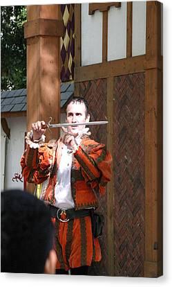 Maryland Renaissance Festival - Johnny Fox Sword Swallower - 121225 Canvas Print by DC Photographer