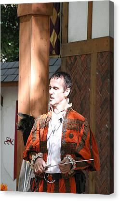Maryland Renaissance Festival - Johnny Fox Sword Swallower - 121228 Canvas Print by DC Photographer