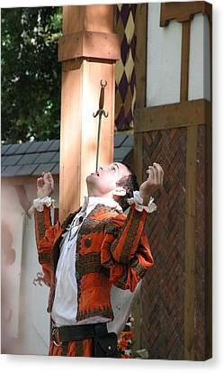 Maryland Renaissance Festival - Johnny Fox Sword Swallower - 121230 Canvas Print by DC Photographer