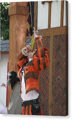 Maryland Renaissance Festival - Johnny Fox Sword Swallower - 121246 Canvas Print by DC Photographer