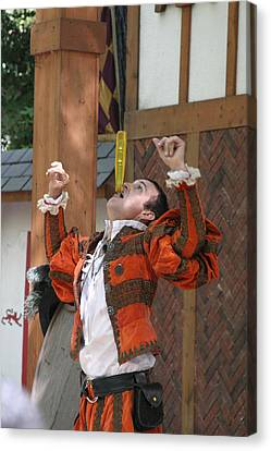 Maryland Renaissance Festival - Johnny Fox Sword Swallower - 121247 Canvas Print by DC Photographer