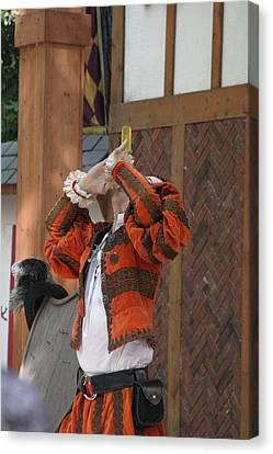 Maryland Renaissance Festival - Johnny Fox Sword Swallower - 121249 Canvas Print by DC Photographer