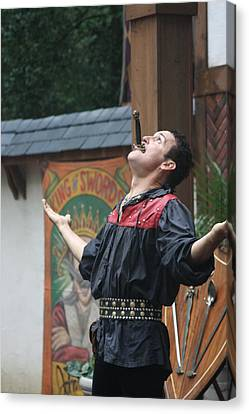 Maryland Renaissance Festival - Johnny Fox Sword Swallower - 121265 Canvas Print by DC Photographer