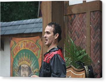 Maryland Renaissance Festival - Johnny Fox Sword Swallower - 121270 Canvas Print by DC Photographer