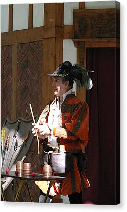 Maryland Renaissance Festival - Johnny Fox Sword Swallower - 12129 Canvas Print by DC Photographer