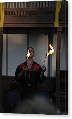 Maryland Renaissance Festival - Johnny Fox Sword Swallower - 121297 Canvas Print by DC Photographer
