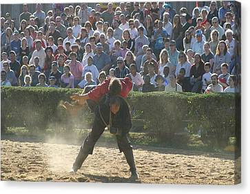 Maryland Renaissance Festival - Jousting And Sword Fighting - 1212107 Canvas Print by DC Photographer