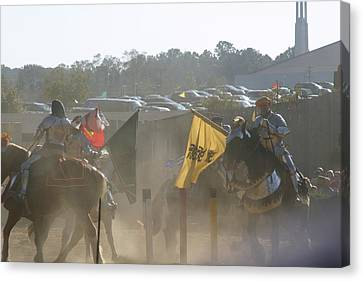 Maryland Renaissance Festival - Jousting And Sword Fighting - 1212141 Canvas Print by DC Photographer
