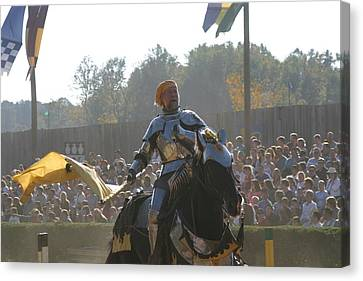 Maryland Renaissance Festival - Jousting And Sword Fighting - 1212142 Canvas Print by DC Photographer