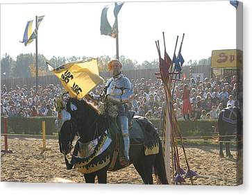 Maryland Renaissance Festival - Jousting And Sword Fighting - 1212150 Canvas Print by DC Photographer