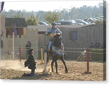 Maryland Renaissance Festival - Jousting And Sword Fighting - 1212159 Canvas Print by DC Photographer